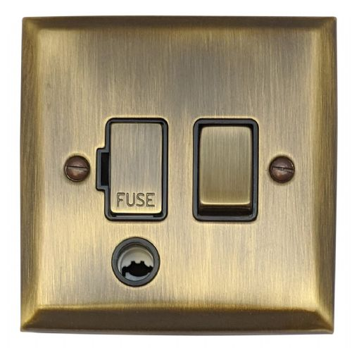 G&H SAB356 Spectrum Plate Antique Bronze 1 Gang Fused Spur 13A Switched & Flex Outlet